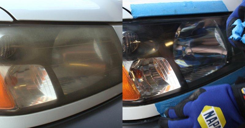 Healights restored using a restoration kit