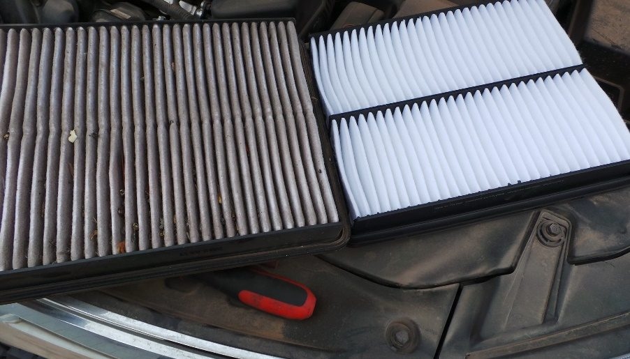 used air filter vs clean