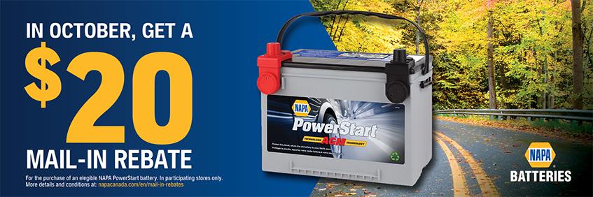 NAPA Batteries Mail-In Rebate Offer